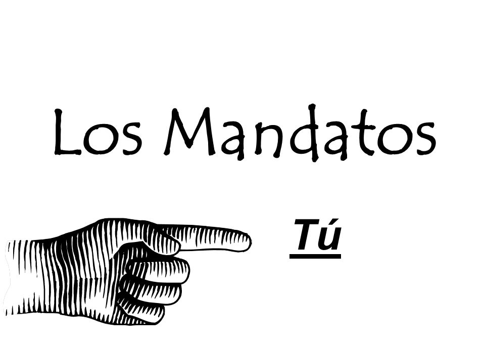 Paso 1 - Afirmativos To form the command for tú Use the present tense form for usted ¡Come las verduras.