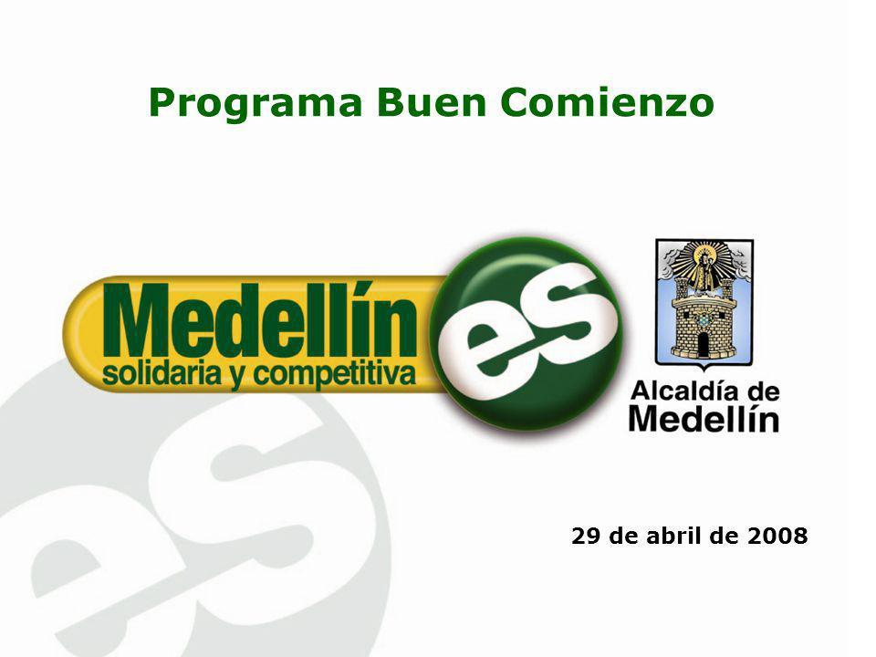 1.Oferta y demanda de atención integral de 0 – 5 años 2.Programa Buen Comienzo 2008-2011 Agenda