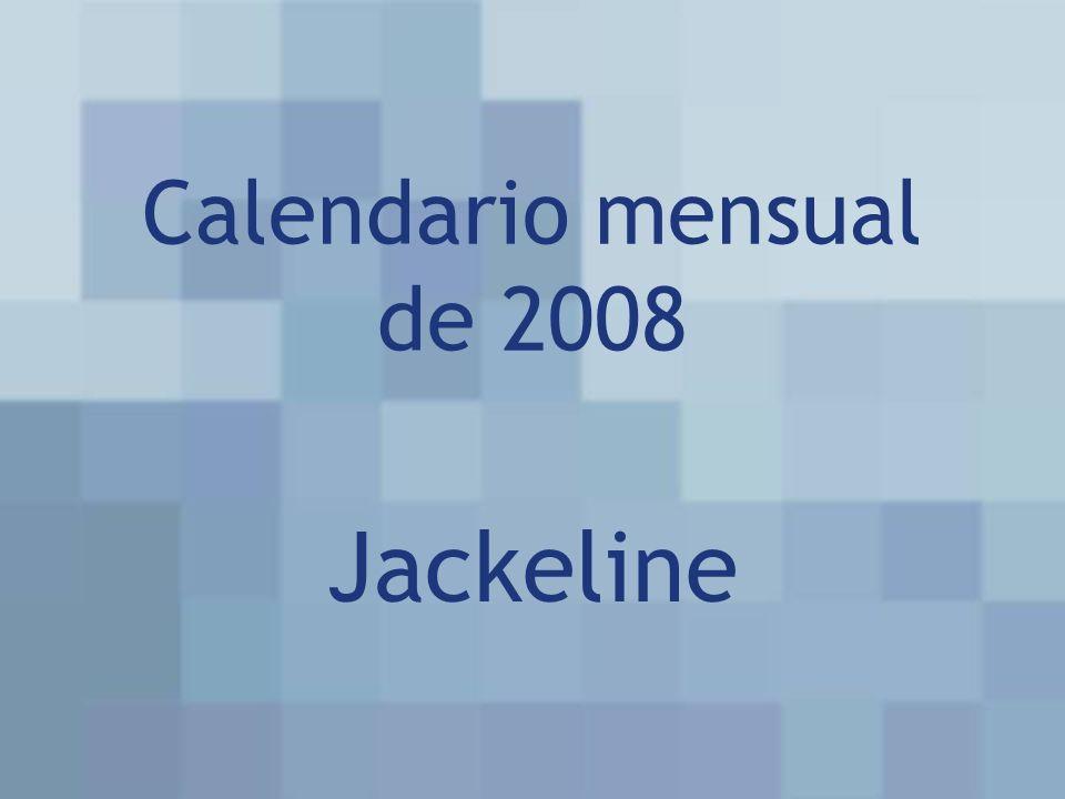 Calendario mensual de 2008 Jackeline