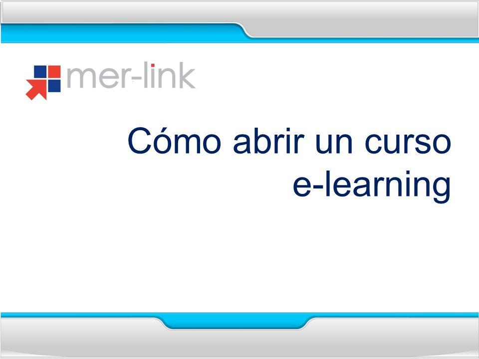 Cómo abrir un curso e-learning