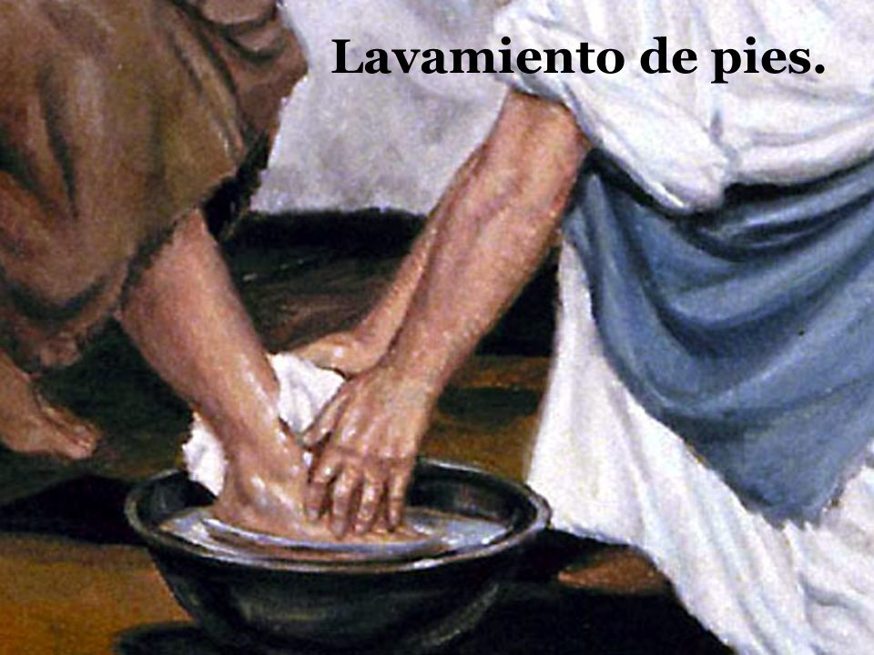 Lavamiento de pies.