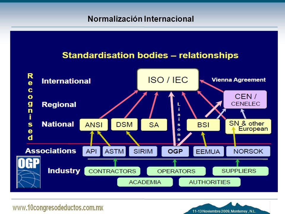 11-13 Noviembre 2009, Monterrey, N.L. Normalización Internacional