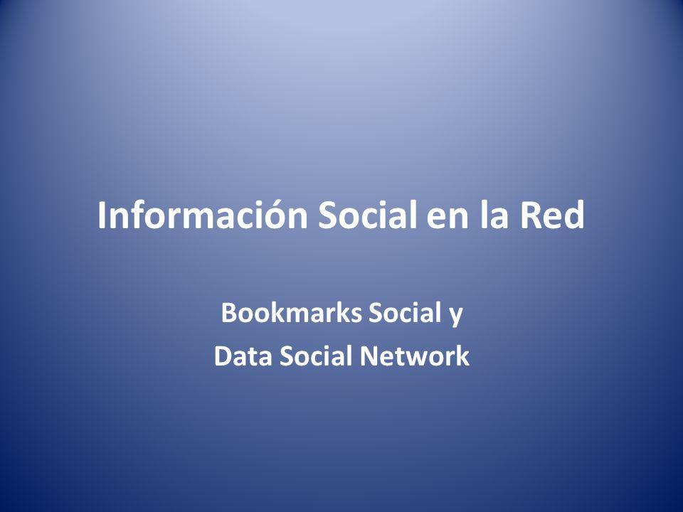 Bookmark Es un site que nos permite compartir el conjunto de sitios favoritos.