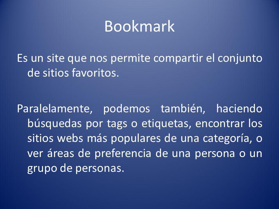 Bookmarks Social Sites en Inglés Sites en Castellano