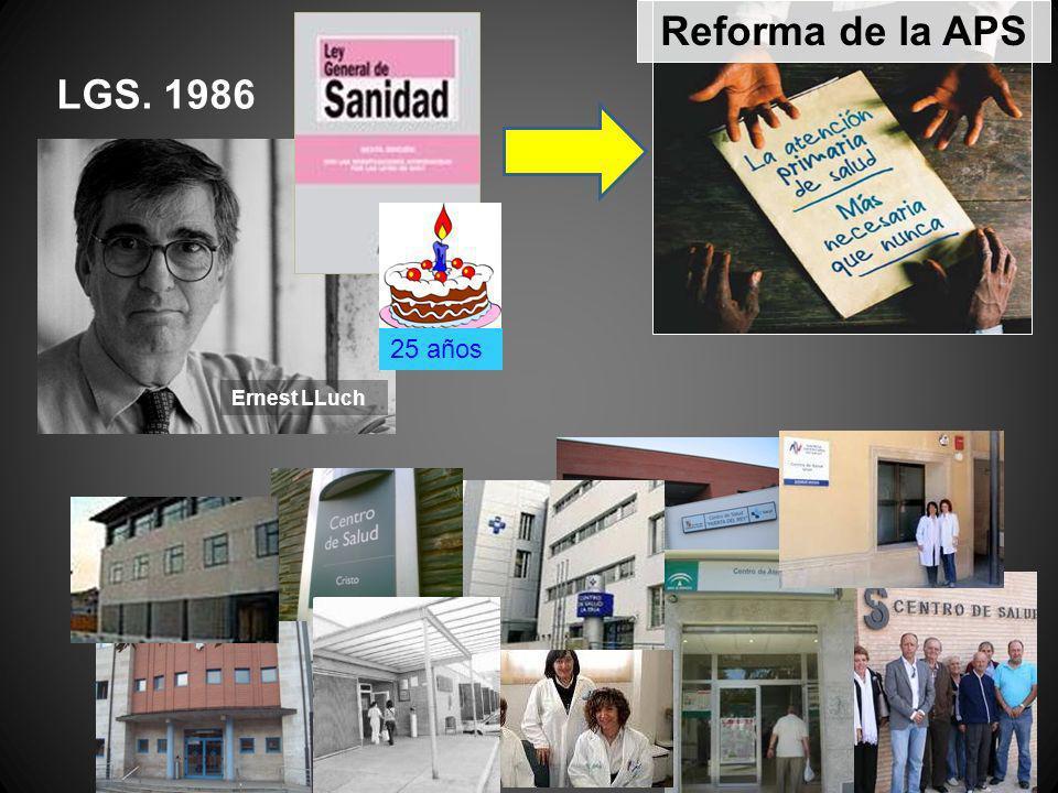 Reforma de la APS LGS. 1986 Ernest LLuch 25 años