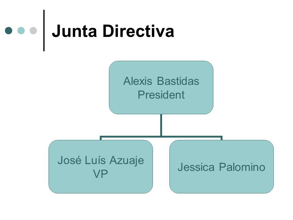 Junta Directiva Alexis Bastidas President José Luís Azuaje VP Jessica Palomino