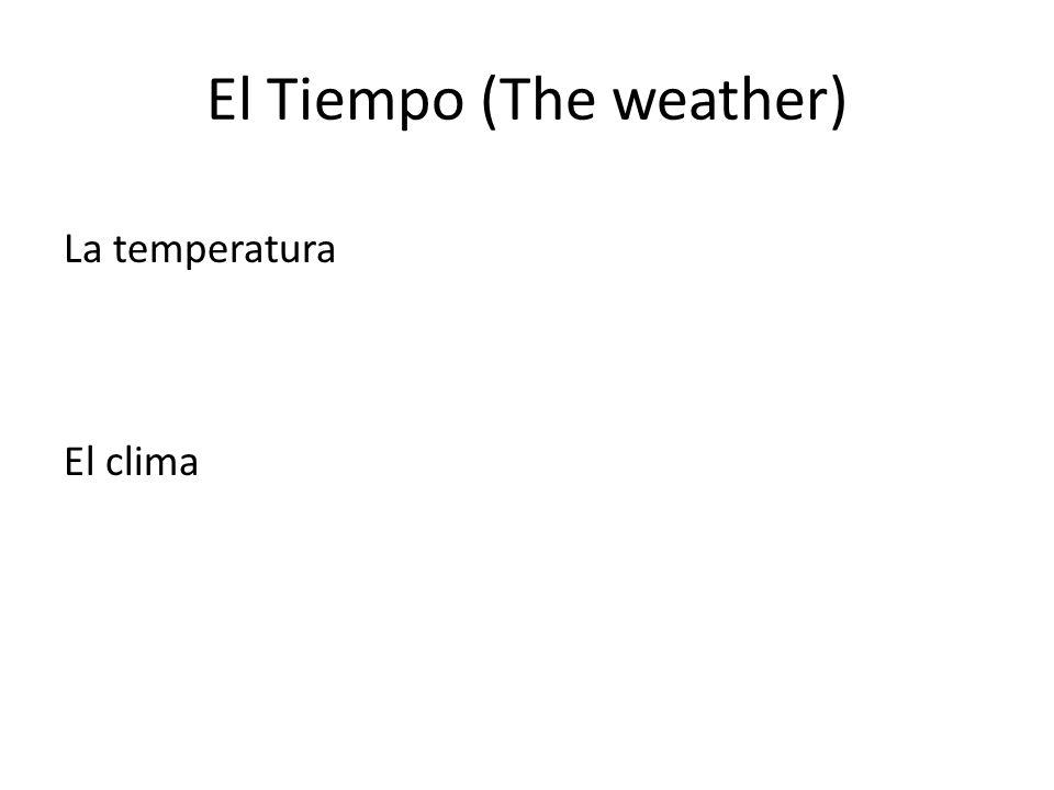 El Tiempo (The weather) La temperatura El clima