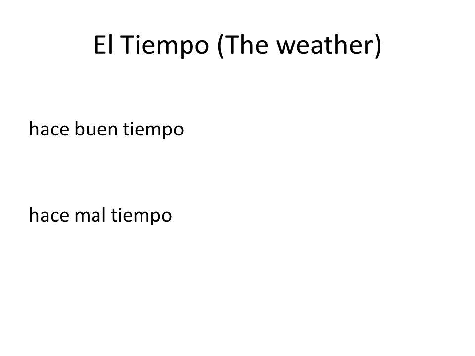 El Tiempo (The weather) hace buen tiempo hace mal tiempo