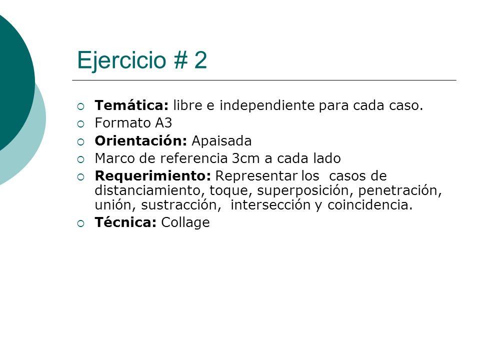 Licdo.Dip. Freddy R Castro Acosta Ejercicio # 2 Temática: libre e independiente para cada caso. Formato A3 Orientación: Apaisada Marco de referencia 3