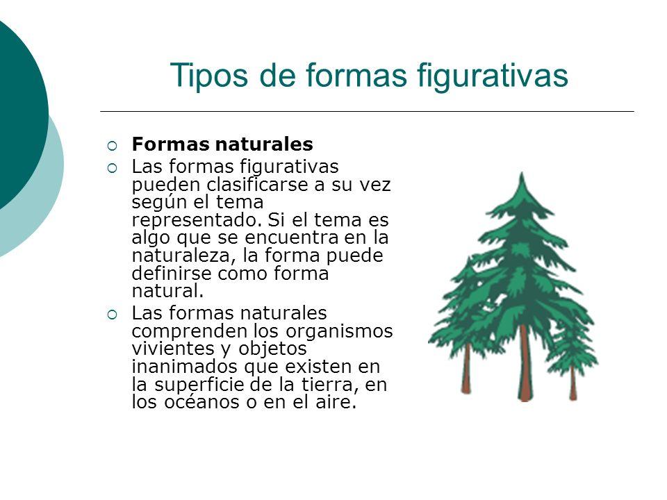 Licdo.Dip. Freddy R Castro Acosta Formas naturales Las formas figurativas pueden clasificarse a su vez según el tema representado. Si el tema es algo