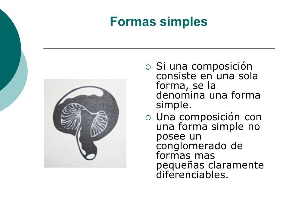 Licdo.Dip. Freddy R Castro Acosta Formas simples Si una composición consiste en una sola forma, se la denomina una forma simple. Una composición con u