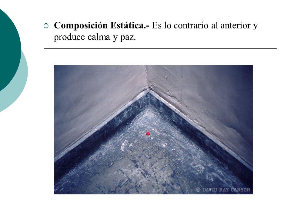 Licdo.Dip. Freddy R Castro Acosta Composición Estática.- Es lo contrario al anterior y produce calma y paz.