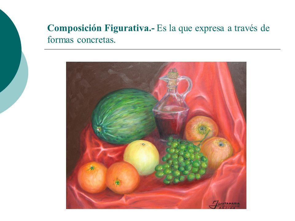 Licdo.Dip. Freddy R Castro Acosta Composición Figurativa.- Es la que expresa a través de formas concretas.
