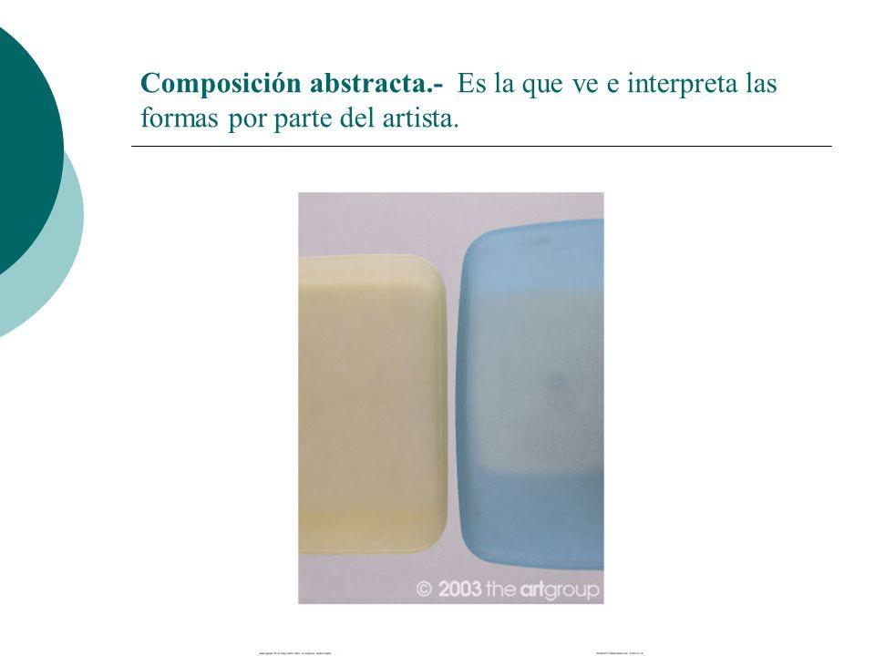 Licdo.Dip. Freddy R Castro Acosta Composición abstracta.- Es la que ve e interpreta las formas por parte del artista.