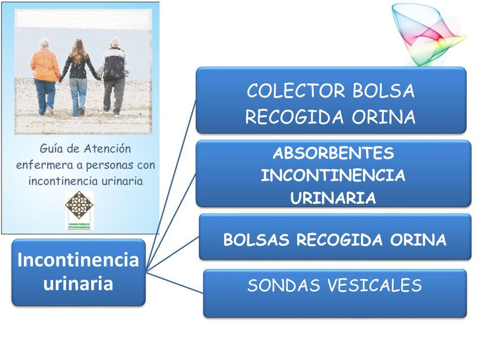 Incontinencia urinaria COLECTOR BOLSA RECOGIDA ORINA ABSORBENTES INCONTINENCIA URINARIA BOLSAS RECOGIDA ORINA SONDAS VESICALES