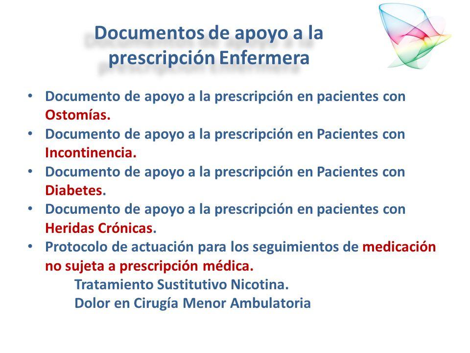 Documentos de apoyo a la prescripción Enfermera Documento de apoyo a la prescripción en pacientes con Ostomías. Documento de apoyo a la prescripción e