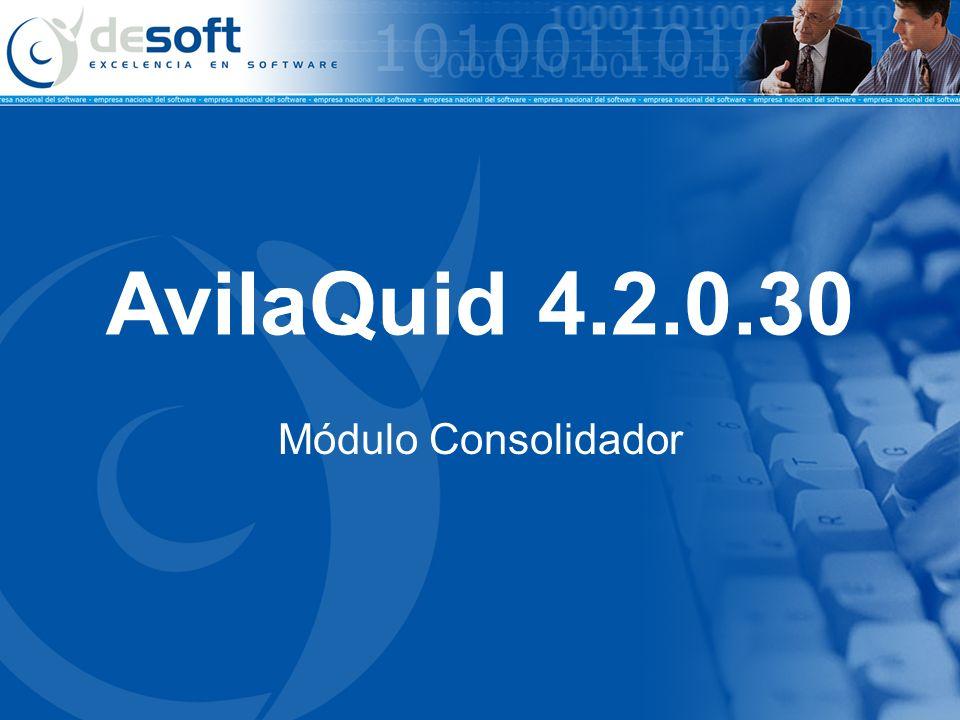 AvilaQuid 4.2.0.30 Módulo Consolidador