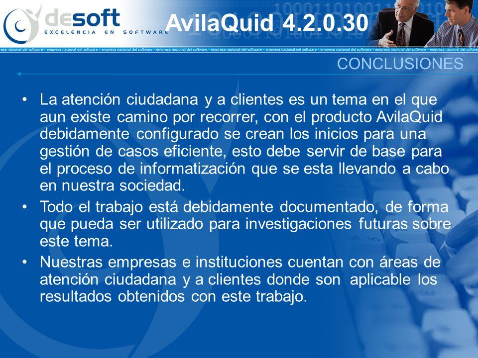 La atención ciudadana y a clientes es un tema en el que aun existe camino por recorrer, con el producto AvilaQuid debidamente configurado se crean los