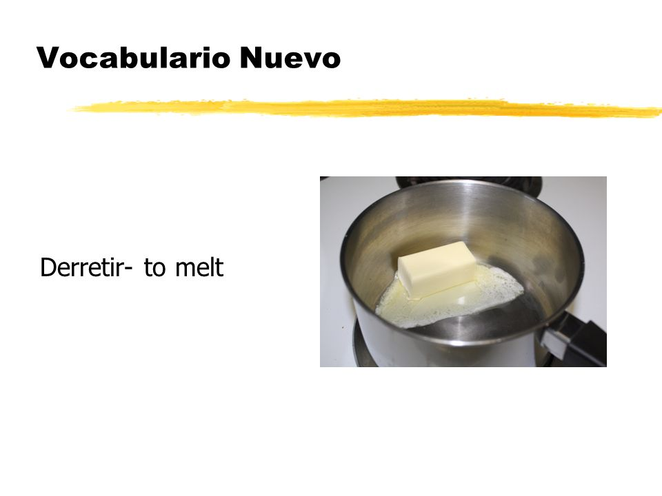 Vocabulario Nuevo Freir- to fry (e-->I)