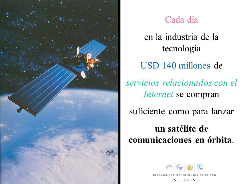 Cada día en la industria de la tecnología USD 140 millones de servicios relacionados con el Internet se compran suficiente como para lanzar un satélit