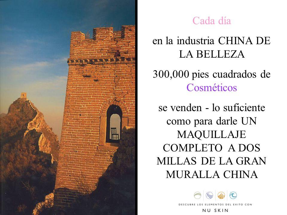 Cada día en la industria CHINA DE LA BELLEZA 300,000 pies cuadrados de Cosméticos se venden - lo suficiente como para darle UN MAQUILLAJE COMPLETO A D