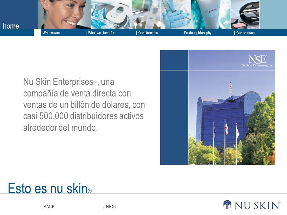 home NEXT BACK Who we are Our strengths Product philosophy Our products What we stand for Operaciones de mercadeo mundial Nu Skin opera en 34 mercados internacionales brindandole una opotunidad de negocio global.