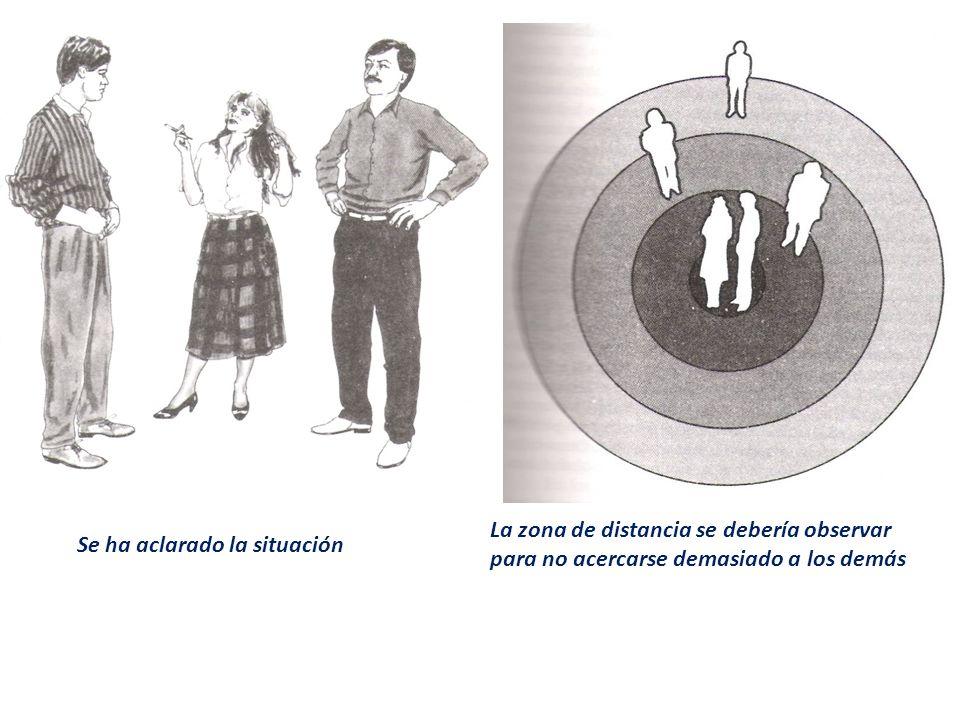 Se ha aclarado la situación La zona de distancia se debería observar para no acercarse demasiado a los demás
