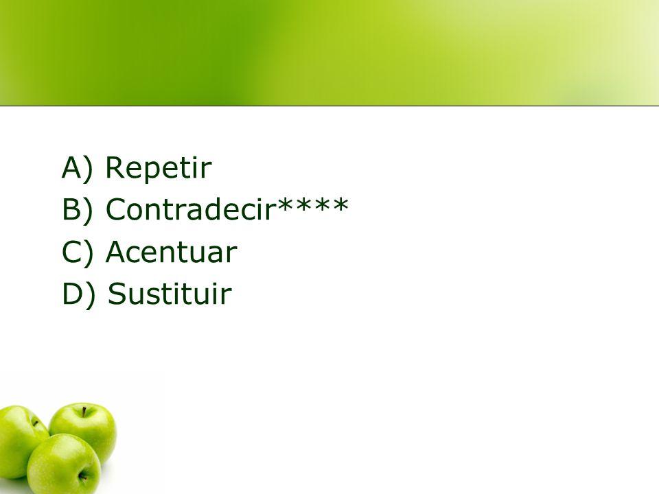 2. En la situación anterior, la comunicación no verbal cumple la siguiente función: A) Repetir B) Contradecir C) Acentuar D) Sustituir