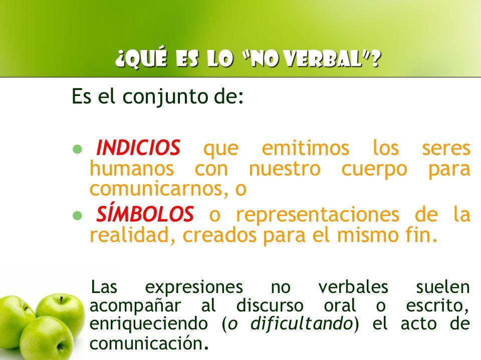 COMUNICACIÓN VERBAL Lenguaje articulado (palabras orales o escritas) NO VERBAL Sin lenguaje articulado