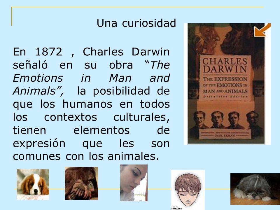 En 1872, Charles Darwin señaló en su obra The Emotions in Man and Animals, la posibilidad de que los humanos en todos los contextos culturales, tienen