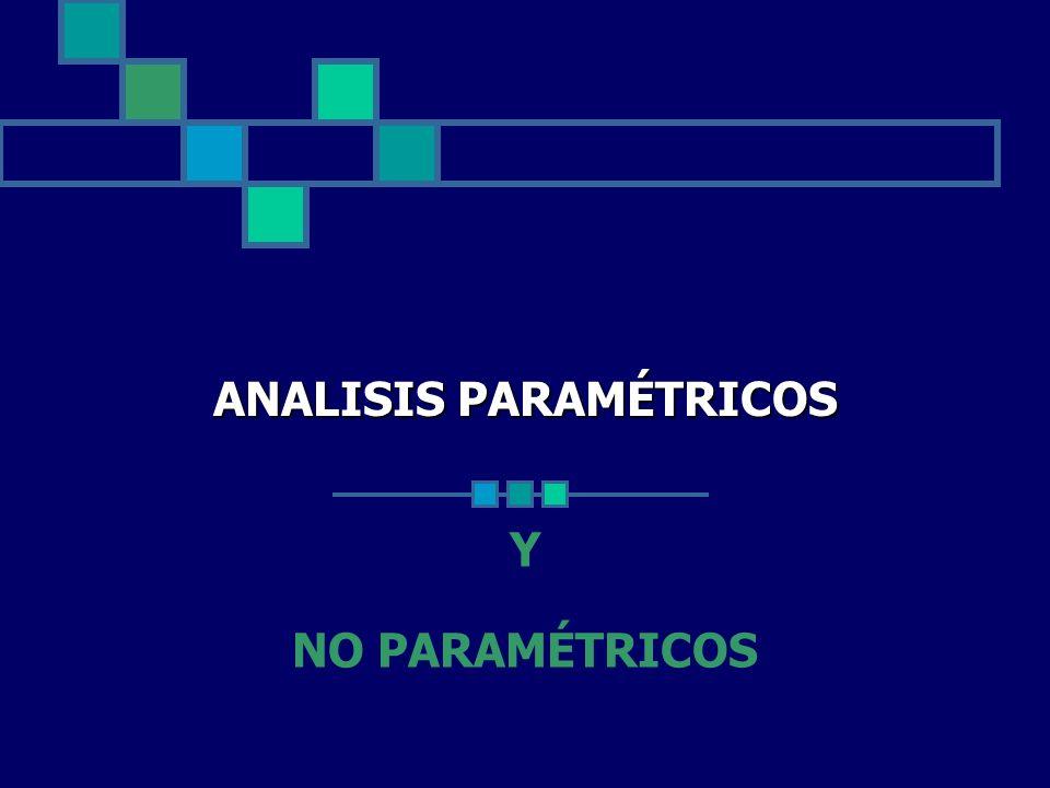 ANALISIS PARAMÉTRICOS Y NO PARAMÉTRICOS