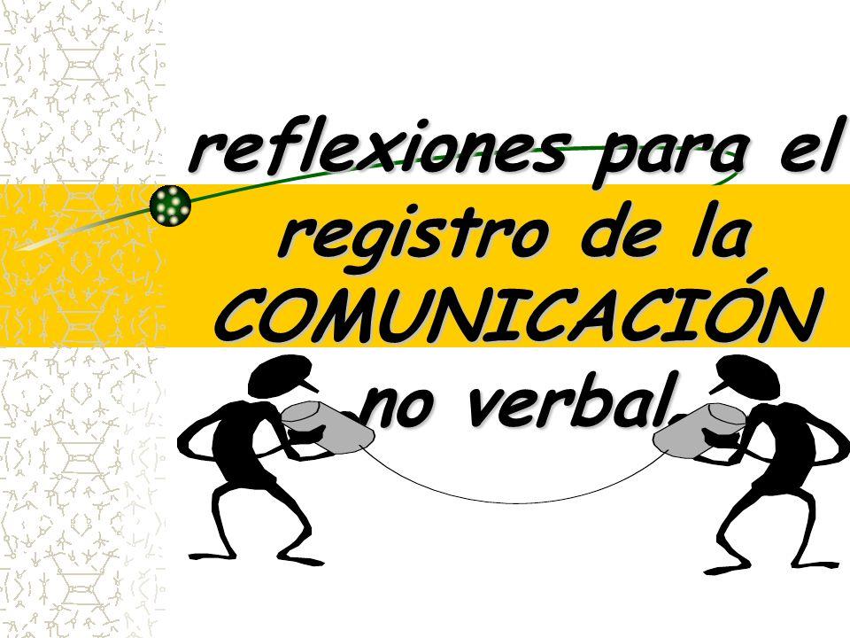 reflexiones para el registro de la COMUNICACIÓN no verbal