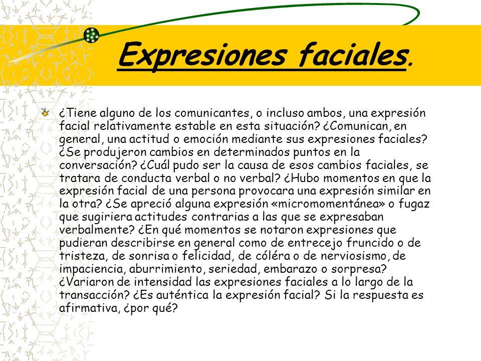 Expresiones faciales.