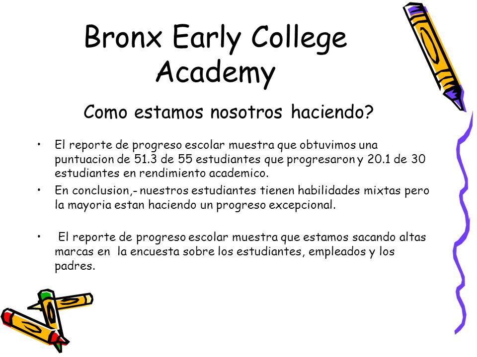 Bronx Early College Academy Cual es el estudiante ideal de BECA.