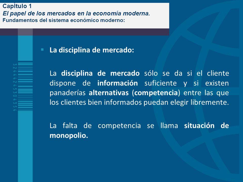 CapÍtulo 1 El papel de los mercados en la economía moderna. Fundamentos del sistema económico moderno: La disciplina de mercado: La disciplina de merc