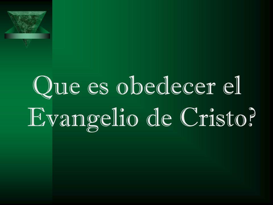 Es creer que Cristo vino, murió, fue sepultado y resucito al tercer día (1 Co.