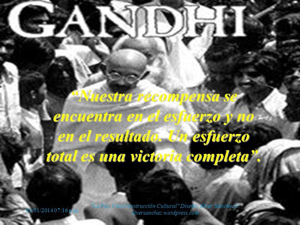Frases imborrables de Mahatma Gandhi 03/01/2014 07:18 a.m.
