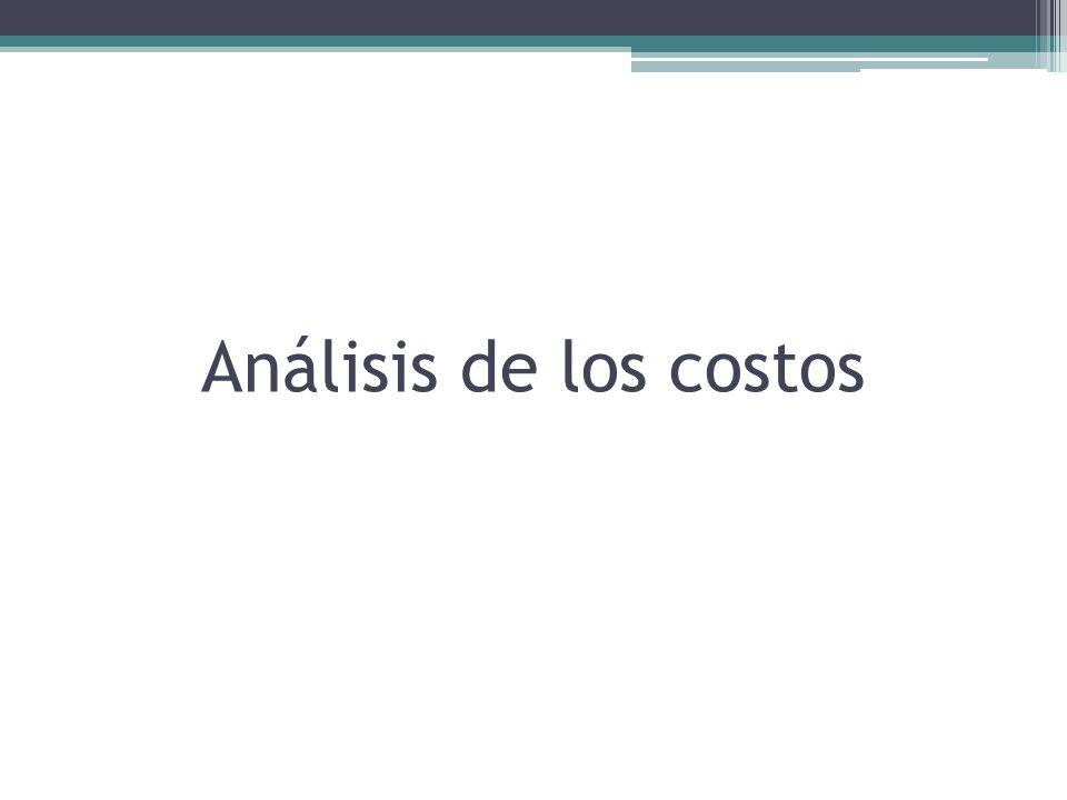 A.Análisis Económico de los Costos B. Los costos económicos y la contabilidad de las empresas C.