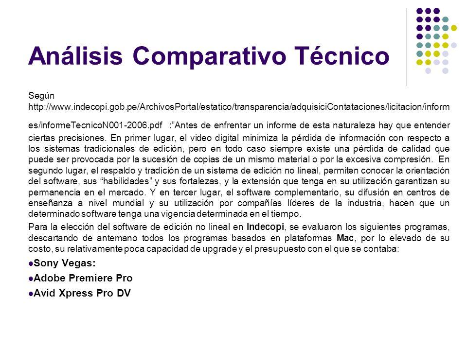 Análisis Comparativo Técnico Según http://www.indecopi.gob.pe/ArchivosPortal/estatico/transparencia/adquisiciContataciones/licitacion/inform es/inform