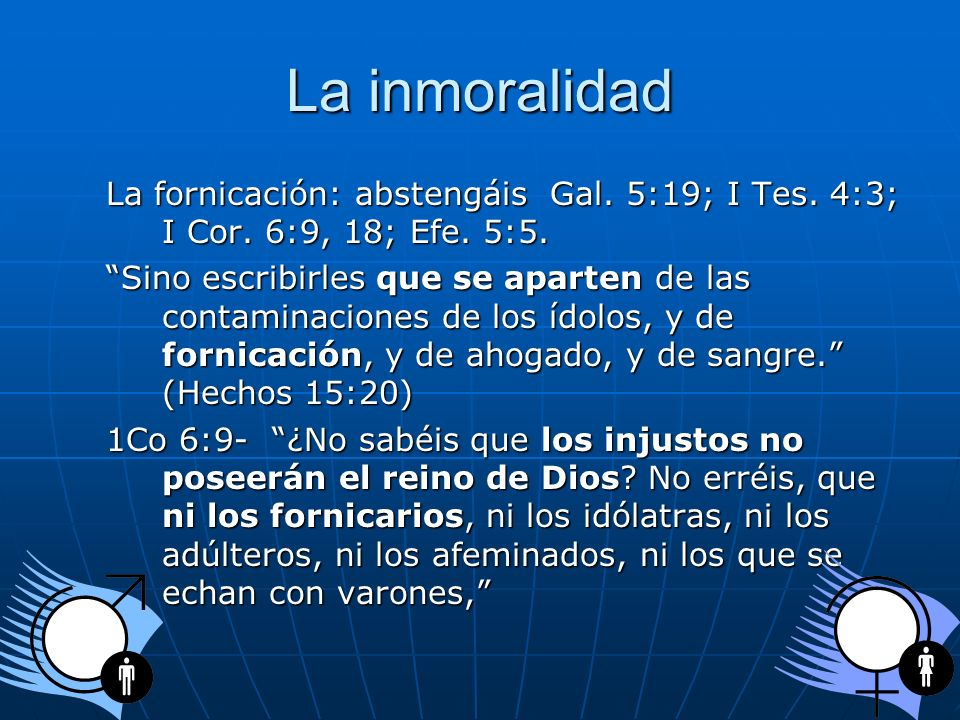 La Inmoralidad El divorcio: Mat.5:31-32; Mat. 19:3- 11; Mar.