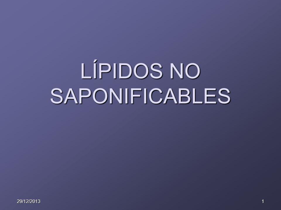 29/12/20131 LÍPIDOS NO SAPONIFICABLES