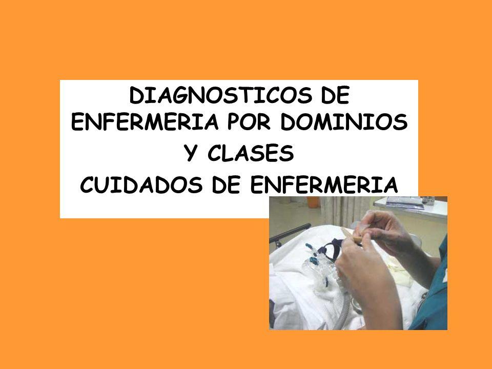 DIAGNOSTICOS DE ENFERMERIA POR DOMINIOS Y CLASES CUIDADOS DE ENFERMERIA