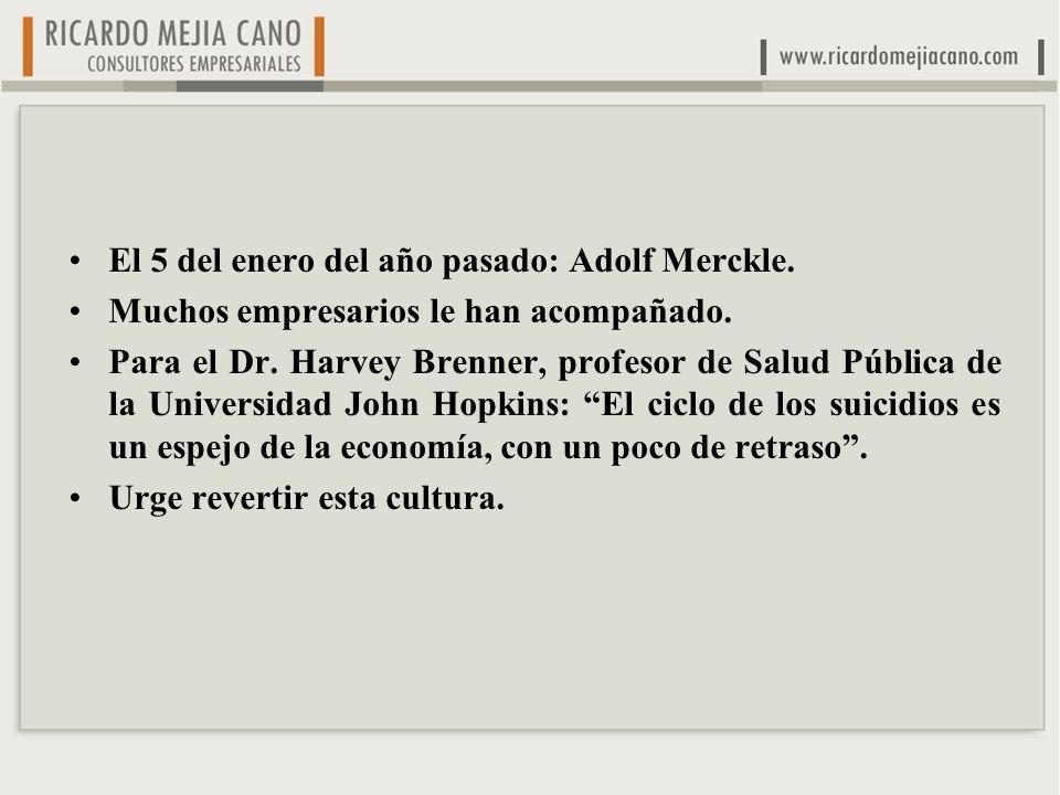 El 5 del enero del año pasado: Adolf Merckle. Muchos empresarios le han acompañado.