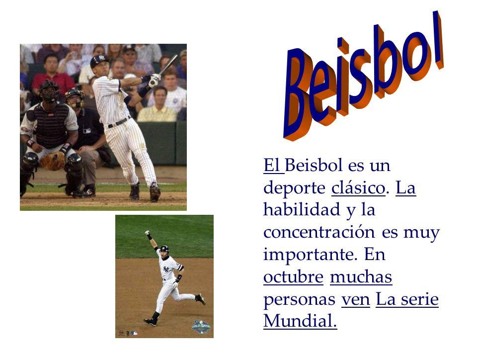 El Beisbol es un deporte clásico. La habilidad y la concentración es muy importante.
