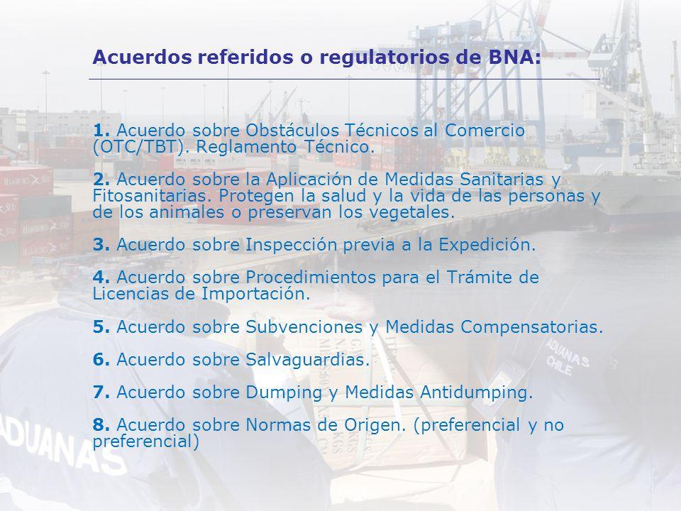 1. Acuerdo sobre Obstáculos Técnicos al Comercio (OTC/TBT). Reglamento Técnico. 2. Acuerdo sobre la Aplicación de Medidas Sanitarias y Fitosanitarias.