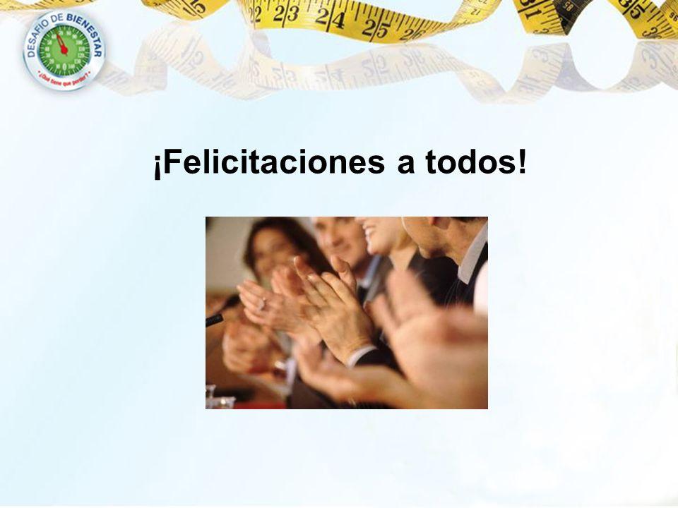 ¡Felicitaciones a todos!