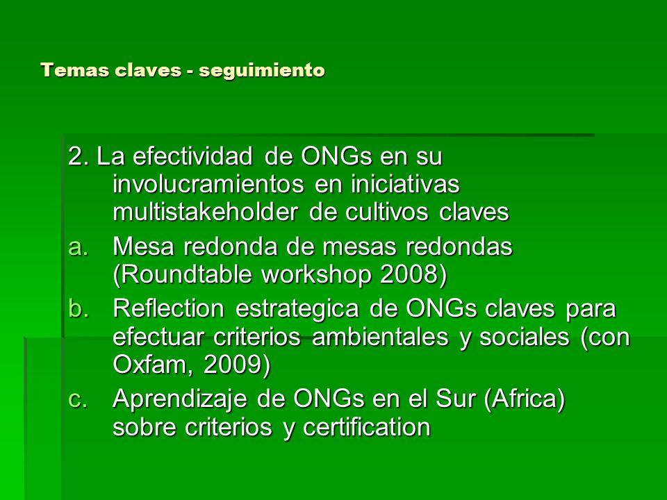 Temas claves- seguimiento 2 3.Biodiversidad, pobreza y cambio climatico a.