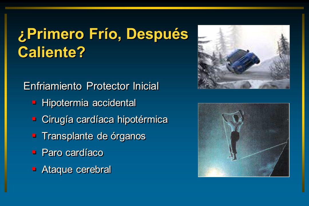 ¿Primero Frío, Después Caliente? Hipotermia accidental Cirugía cardíaca hipotérmica Transplante de órganos Paro cardíaco Ataque cerebral Hipotermia ac