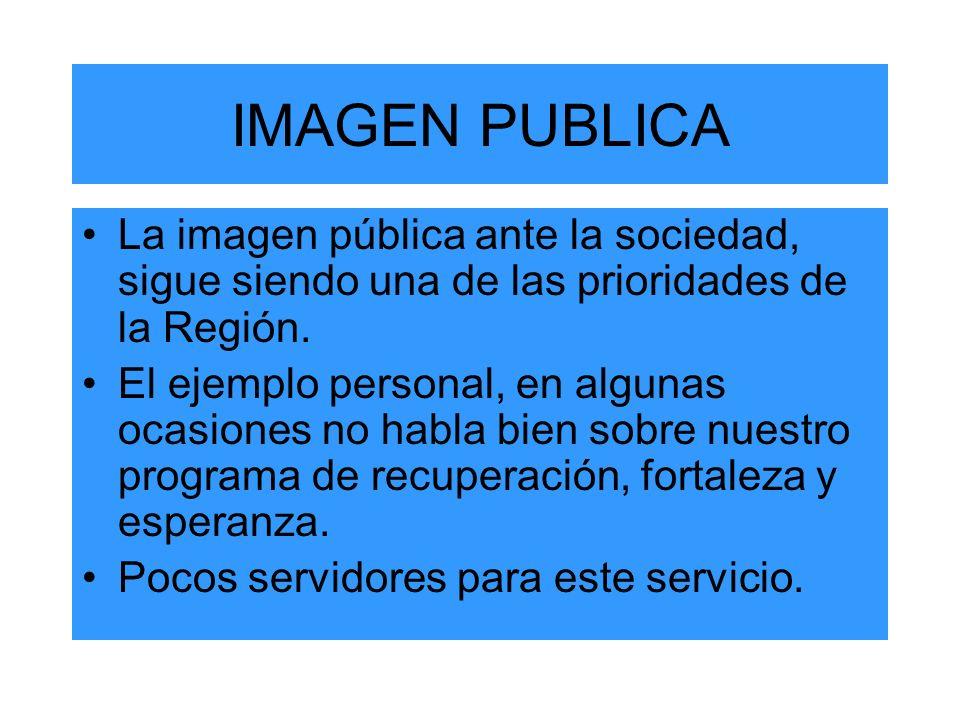 IMAGEN PUBLICA La imagen pública ante la sociedad, sigue siendo una de las prioridades de la Región.
