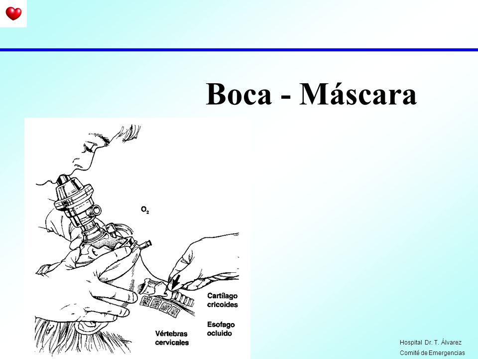 Boca - Máscara Hospital Dr. T. Álvarez Comité de Emergencias
